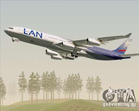 Airbus A340-313 LAN Airlines для GTA San Andreas двигатель