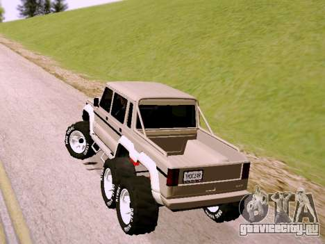 Benefactor Dubsta 6x6 для GTA San Andreas вид слева