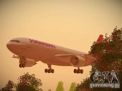 Airbus A330-200 Hawaiian Airlines для GTA San Andreas вид сверху