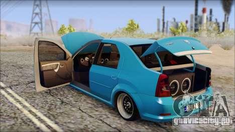 Dacia Logan BS GARAGE для GTA San Andreas вид справа