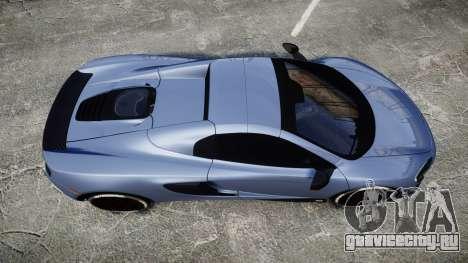 McLaren 650S Spider 2014 [EPM] Michelin v1 для GTA 4 вид справа
