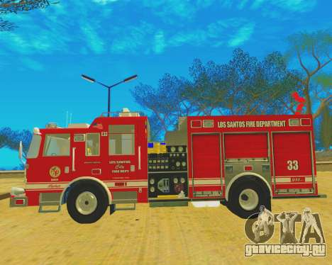 Pierce Arrow XT 2008 Los Santos Fire Department для GTA San Andreas вид справа