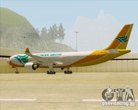 Airbus A330-300 Cebu Pacific Air для GTA San Andreas вид сзади