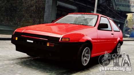 Toyota Sprinter Trueno AE86 SR для GTA 4