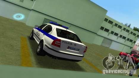 Skoda Octavia Albanian Police Car для GTA Vice City вид сзади