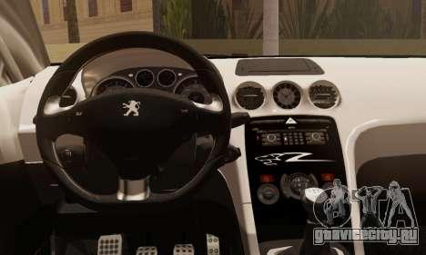 Peugeot RCZ GTS 2010 Tuned v2.0 для GTA San Andreas вид сзади слева