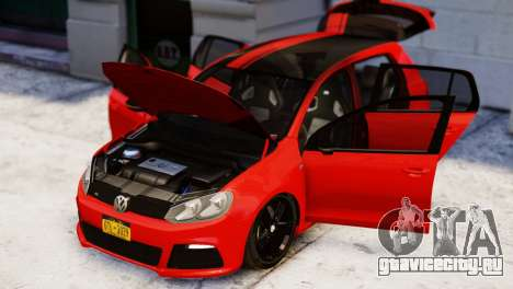 Volkswagen Golf R 2010 Racing Stripes Paintjob для GTA 4 вид справа