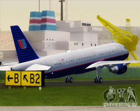 Airbus A320-232 United Airlines (Old Livery) для GTA San Andreas