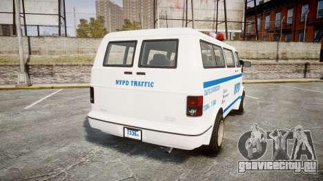 GTA V Bravado Youga NYPD для GTA 4 вид сзади слева