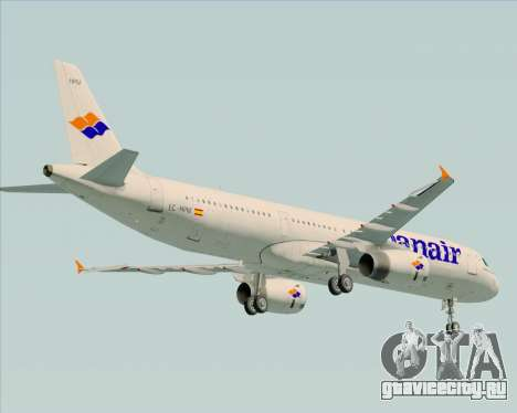 Airbus A321-231 Spanair для GTA San Andreas вид сзади