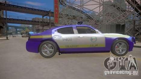 Dodge Charger Kuwait Police 2006 для GTA 4 вид изнутри