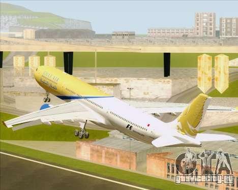 Airbus A330-300 Gulf Air для GTA San Andreas вид снизу