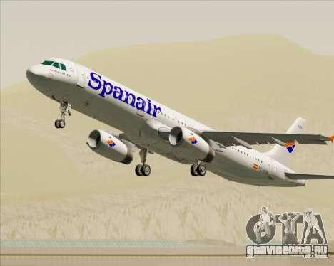 Airbus A321-231 Spanair для GTA San Andreas колёса