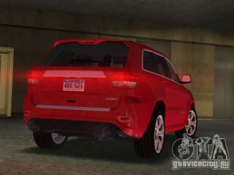 Jeep Grand Cherokee SRT-8 (WK2) 2012 для GTA Vice City вид слева
