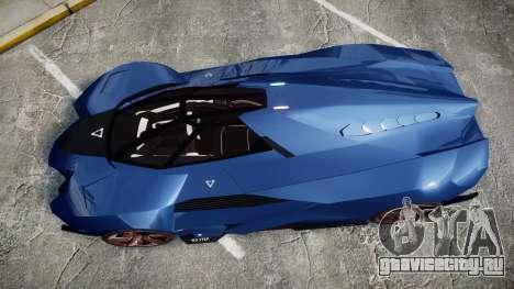Lamborghini Egoista для GTA 4 вид справа