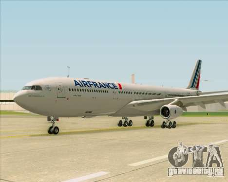 Airbus A340-313 Air France (New Livery) для GTA San Andreas вид изнутри