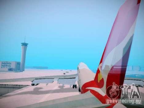 Boeing 747-438 Qantas Boxing Kangaroo для GTA San Andreas колёса