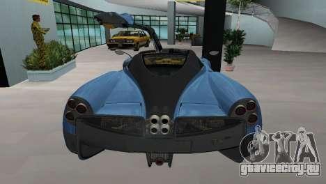 Pagani Huayra 2012 для GTA Vice City вид слева