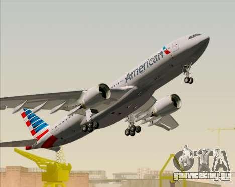 Airbus A330-200 American Airlines для GTA San Andreas вид сверху