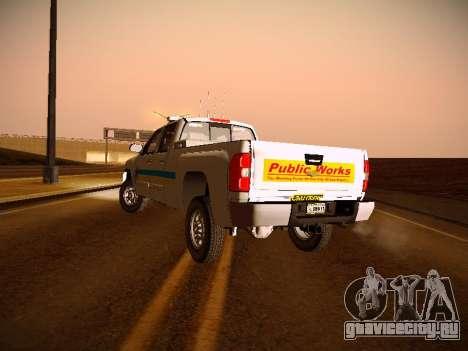 Chevrolet Silverado 2500HD Public Works Truck для GTA San Andreas вид изнутри