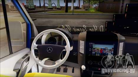 Mercedes-Benz Sprinter Dolmus для GTA San Andreas вид справа