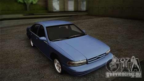 Chevrolet Impala 1996 для GTA San Andreas вид сзади слева