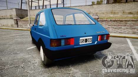 Fiat 147 Spazio-TR для GTA 4 вид сзади слева