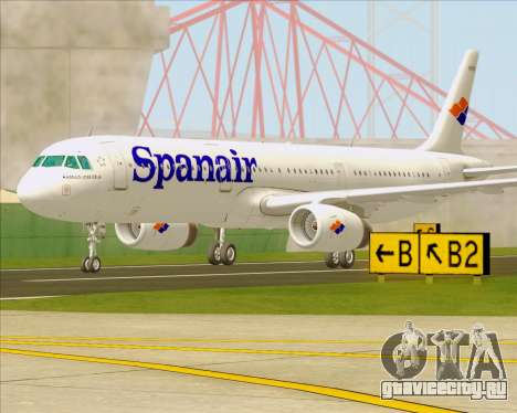 Airbus A321-231 Spanair для GTA San Andreas вид справа