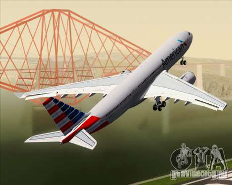 Airbus A330-200 American Airlines для GTA San Andreas колёса