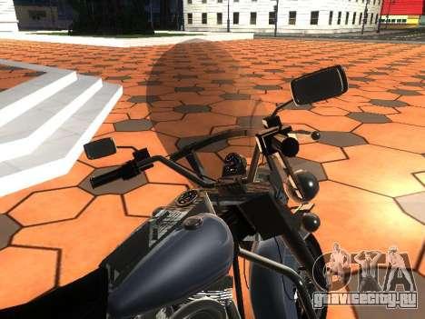 Harley Davidson Road King для GTA San Andreas вид сзади