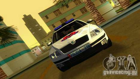 Skoda Octavia Albanian Police Car для GTA Vice City вид сзади слева