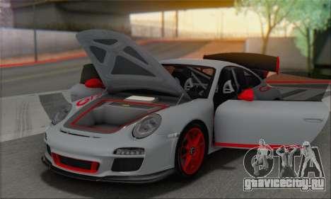 Porsche 911 GT3 2010 для GTA San Andreas вид снизу