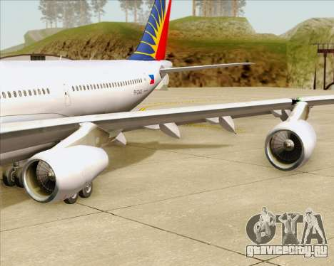 Airbus A340-313 Philippine Airlines для GTA San Andreas колёса