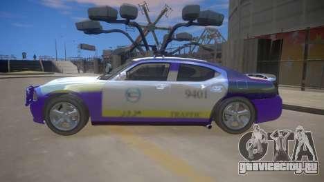 Dodge Charger Kuwait Police 2006 для GTA 4 вид сзади