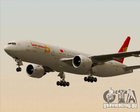 Boeing 777-200ER Air China для GTA San Andreas двигатель