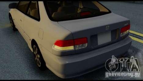 Honda Civic Si 1999 для GTA San Andreas вид сбоку