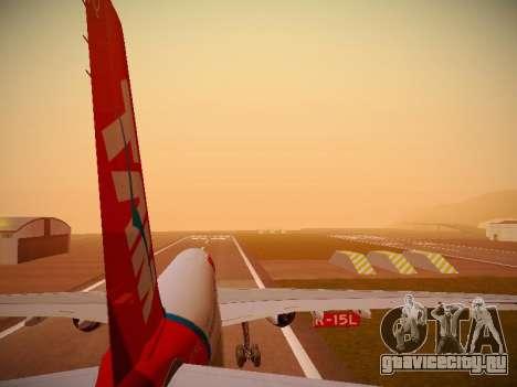Airbus A330-200 TAM Airlines для GTA San Andreas двигатель