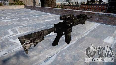 Автоматический карабин Colt M4A1 kryptek typhon для GTA 4 второй скриншот