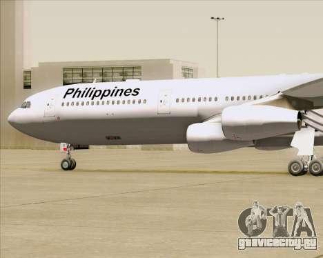 Airbus A340-313 Philippine Airlines для GTA San Andreas вид сверху