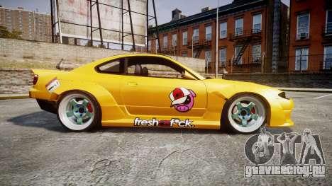 Nissan Silvia S15 Street Drift [Updated] для GTA 4 вид слева