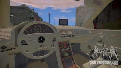 Mercedes-Benz S600 W140 для GTA 4 вид изнутри