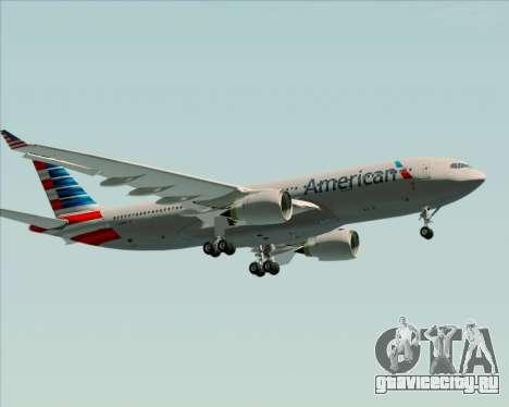 Airbus A330-200 American Airlines для GTA San Andreas вид изнутри