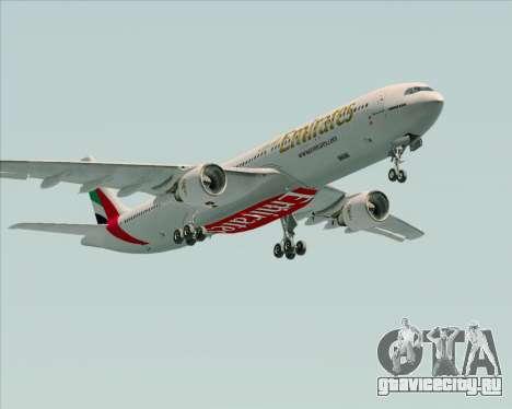 Airbus A330-300 Emirates для GTA San Andreas вид изнутри