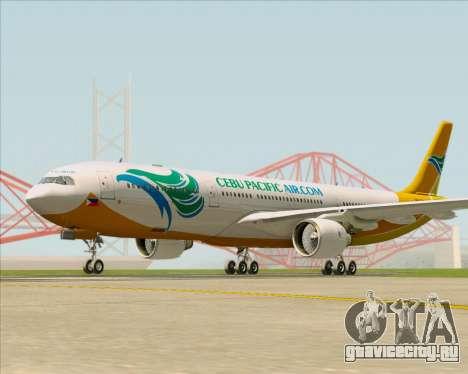 Airbus A330-300 Cebu Pacific Air для GTA San Andreas вид слева