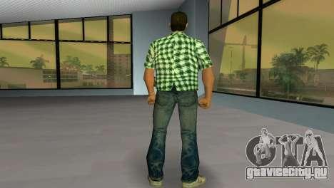 Kockas polo - zold T-Shirt для GTA Vice City третий скриншот