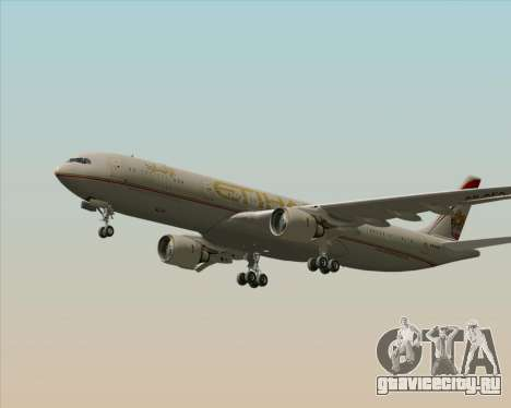 Airbus A330-300 Etihad Airways для GTA San Andreas вид изнутри
