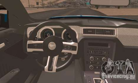 Ford Mustang Boss 302 2013 для GTA San Andreas вид сзади слева
