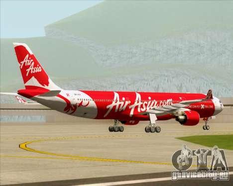 Airbus A330-300 Air Asia X для GTA San Andreas вид сзади