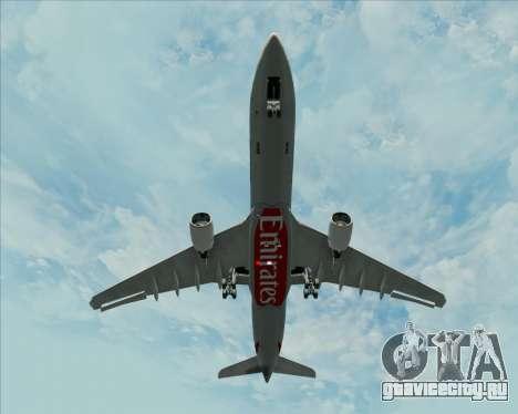 Airbus A330-300 Emirates для GTA San Andreas вид сбоку