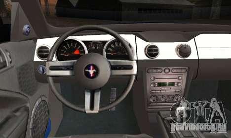 Ford Mustang GT 2005 v2.0 для GTA San Andreas вид сзади слева
